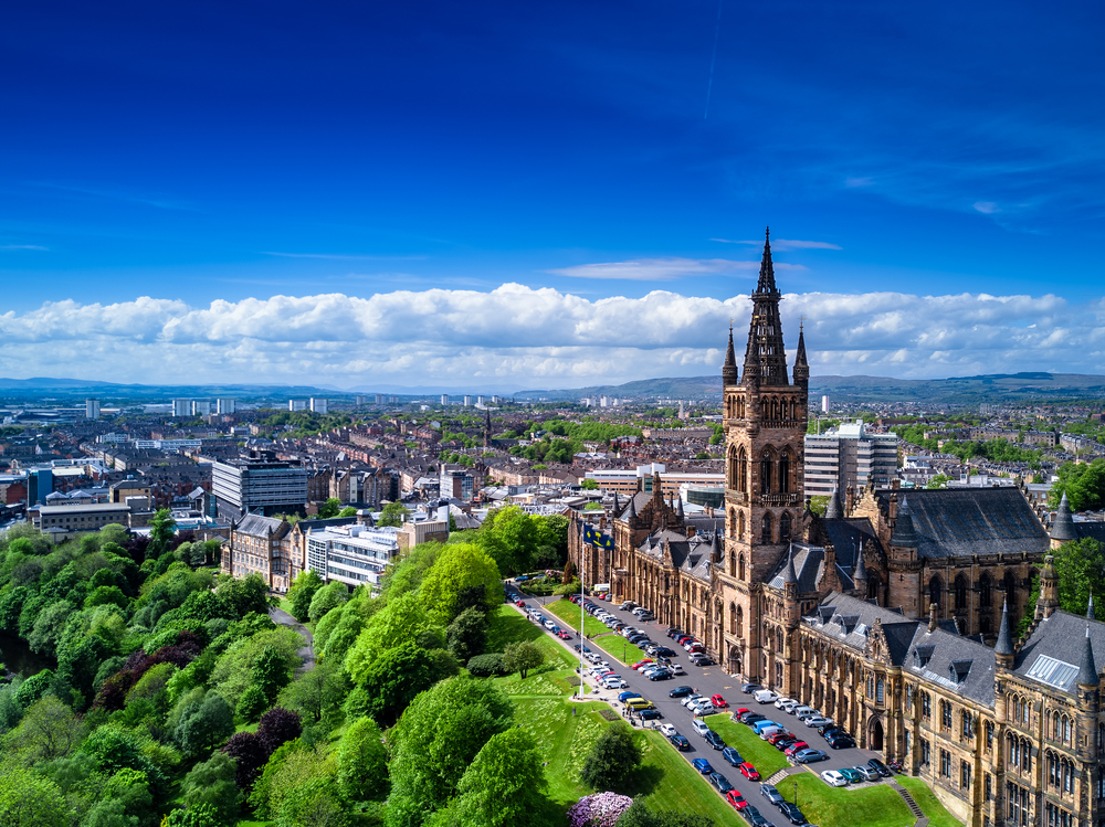 Aerial,View,Of,Glasgow,,Scotland,,Uk.